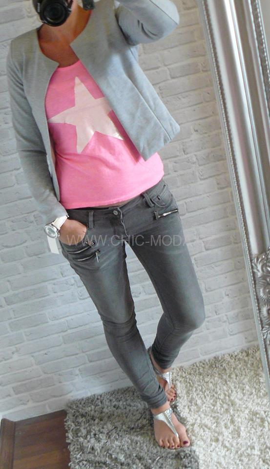 jeans se zipy yes!pink!