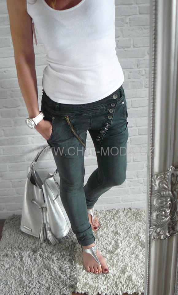 Mozzaar Jeans ŠEDÉ  1a764a6c64