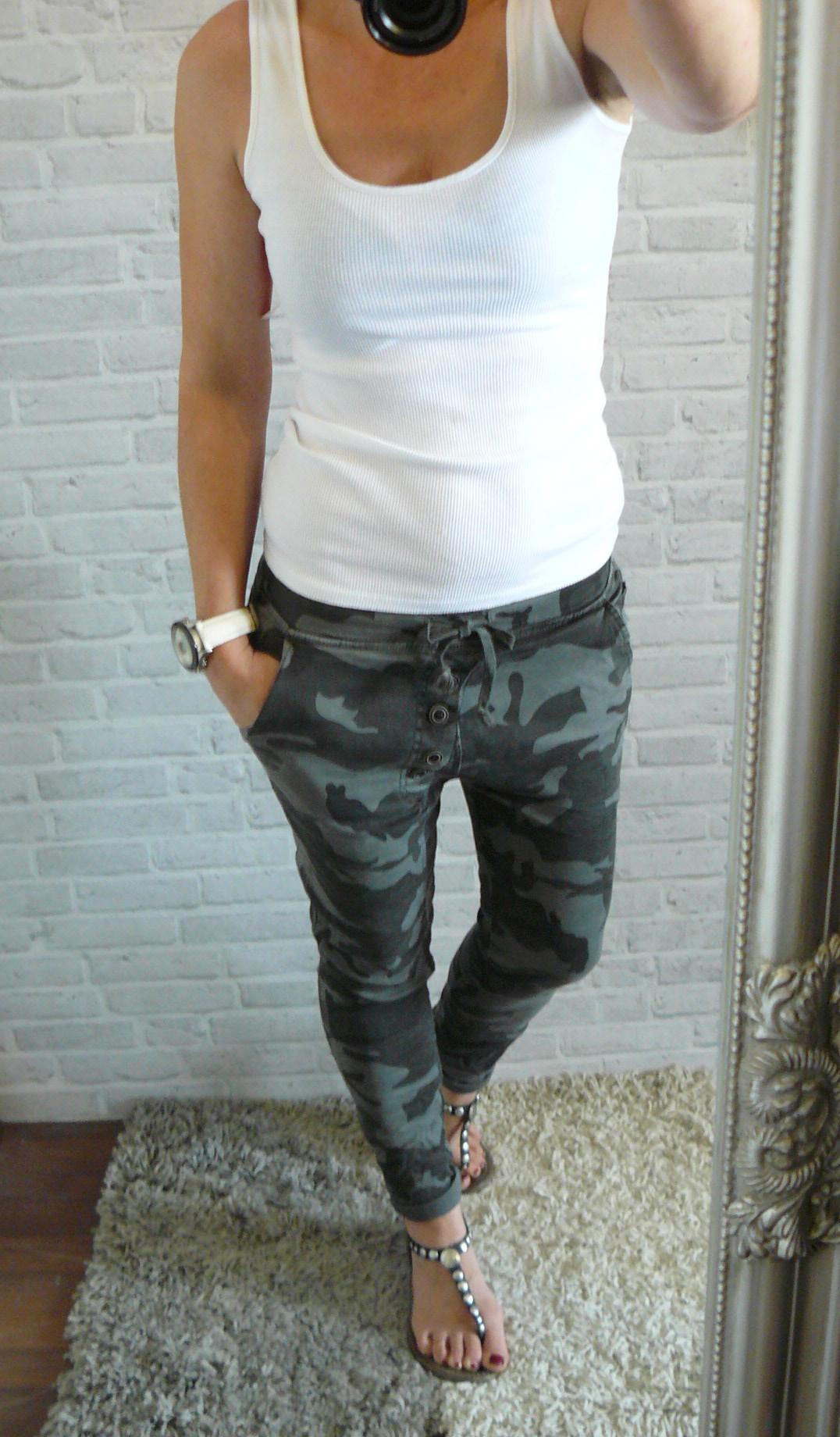 elastické camo jeans ČERNO šedé empty a99f22cd19